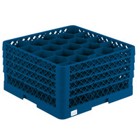 Vollrath TR11GGGG Traex Rack Max Full-Size Royal Blue 20-Compartment 9 7/16 inch Glass Rack