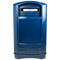 Rubbermaid FG396973BLUE Plaza Blue Paper Recycling Container - 50 Gallon