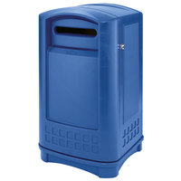 Rubbermaid 3969 Plaza Blue Paper Recycling Container - 50 Gallon (FG396973BLUE)