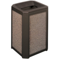 Rubbermaid FG396700SBLE Landmark Series Classic Container Sable Square Polycarbonate Funnel Top Frame with FG356900 Rigid Plastic Liner 20 Gallon