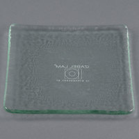 10 Strawberry Street HD920OC Izabel Lam Morning Tide 5 1/2 inch Ocean Clear Glass Square Plate - 36/Case