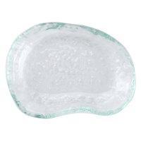 10 Strawberry Street HD2503OC Izabel Lam Morning Tide 3 1/2 inch x 4 1/2 inch Ocean Clear Glass Elliptical Dish - 48/Case
