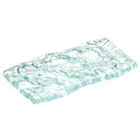 10 Strawberry Street HD2955OC Izabel Lam Morning Tide 3 inch x 6 inch Ocean Clear Thick Fused Glass Platter - 12/Case