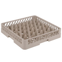 Vollrath TR11 Traex® Rack Max Full-Size Beige 20-Compartment 3 1/4 inch Glass Rack