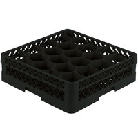Vollrath TR11G Traex® Rack Max Full-Size Black 20-Compartment 4 13/16 inch Glass Rack