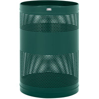 Rubbermaid FGH55EEGN Towne Series Empire Green Perforated Steel Free-Standing Container with Drain Holes 63 Gallon