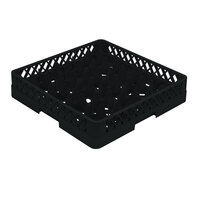 Vollrath TR11A Traex Rack Max Full-Size Black 20-Compartment 4 13/16 inch Glass Rack with Open Rack Extender On Top
