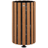 Rubbermaid FGH12SMC Towne Series Cedar Post-Mount with Drain Holes and Surface Post 34 Gallon