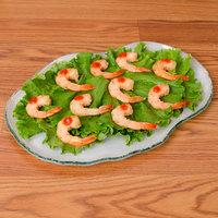 10 Strawberry Street HD2512OP Izabel Lam Morning Tide 8 1/2 inch x 12 inch Opal Glass Oyster Platter - 12/Case
