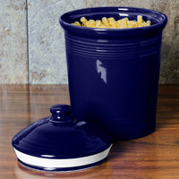 Homer Laughlin 572105 Fiesta Cobalt Blue Medium 2 Qt. Canister with Cover - 2/Case