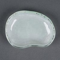 10 Strawberry Street HD2503OP Izabel Lam Morning Tide 3 1/2 inch x 4 1/2 inch Opal Glass Eliptical Dish - 48/Case
