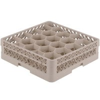 Vollrath TR11G Traex® Rack Max Full-Size Beige 20-Compartment 4 13/16 inch Glass Rack
