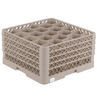 Vollrath TR11GGGG Traex® Rack Max Full-Size Beige 20-Compartment 9 7/16 inch Glass Rack
