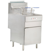 Cecilware Pro FMS705 Natural Gas Five Tube Floor Fryer - 150,000 BTU