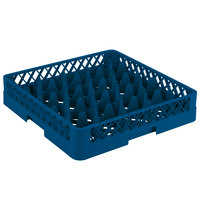 Vollrath TR11 Traex® Rack Max Full-Size Royal Blue 20-Compartment 3 1/4 inch Glass Rack