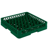 Vollrath TR11 Traex® Rack Max Full-Size Green 20-Compartment 3 1/4 inch Glass Rack