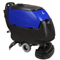 Pacific 875405 S-24 24 inch Walk Behind Auto Floor Scrubber with Transaxle Drive and Chemical Injection - 250AH Maintenance Free AGM Batteries with Charger