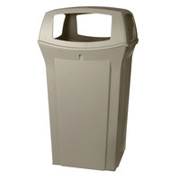 Rubbermaid FG917600BEIG Ranger Beige Container with 4 Openings 65 Gallon