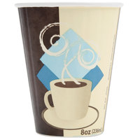 Dart Solo IC8-J7534 Duo Shield 8 oz. Poly Paper Hot Cup - 50 / Pack