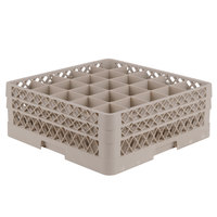 Vollrath TR6BB Traex® Full-Size Beige 25-Compartment 6 3/8 inch Glass Rack