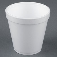 Dart Solo 16MJ20 16 oz. Medium Squat White Foam Food Bowl - 25/Pack