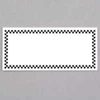 Rectangular Write On Deli Tag with Black Checkered Border