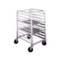 Winholt AL-1810/HKD 10 Pan End Load Half Height Aluminum Bun / Sheet Pan Rack - Unassembled