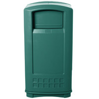Rubbermaid FG9P9000GRN Plaza Dark Green Junior Container Side Opening Door 35 Gallon
