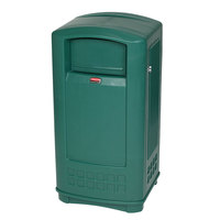 Rubbermaid FG9P9000 Plaza Dark Green Junior Container Side Opening Door 35 Gallon (FG9P9000DGRN)