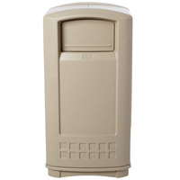 Rubbermaid FG9P9000BEIG Plaza Beige Junior Container with Side Opening Door 35 Gallon