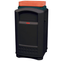 Rubbermaid FG396300BLA Plaza Black Container with Side Opening Door and Tray Top 50 Gallon