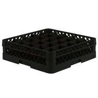 Vollrath TR6B Traex® Full-Size Black 25-Compartment 4 13/16 inch Glass Rack