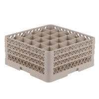 Vollrath TR6BBB Traex® Full-Size Beige 25-Compartment 7 7/8 inch Glass Rack