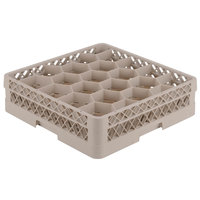 Vollrath TR13G Traex® Rack Max Full-Size Beige 20-Compartment 2 1/16 inch Glass Rack
