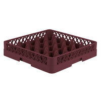 Vollrath TR6 Traex® Full-Size Burgundy 25-Compartment 3 1/4 inch Glass Rack