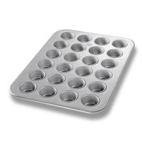 Chicago Metallic 45245 24 Cup 2.1 oz. Glazed Mini Muffin Pan