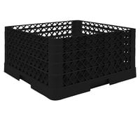 Vollrath TR6BBBA Traex® Full-Size Black 25-Compartment 9 7/16 inch Glass Rack with Open Rack Extender On Top
