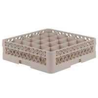 Vollrath TR6B Traex® Full-Size Beige 25-Compartment 4 13/16 inch Glass Rack