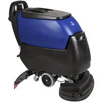 Pacific 855421 S-24XM 24 inch Walk Behind Auto Floor Scrubber with Transaxle Drive - 140AH Maintenance Free AGM Batteries with Charger