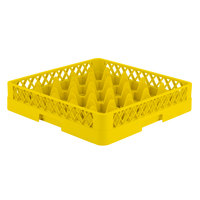 Vollrath TR6 Traex® Full-Size Yellow 25-Compartment 3 1/4 inch Glass Rack