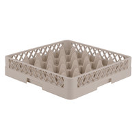 Vollrath TR6 Traex® Full-Size Beige 25-Compartment 3 1/4 inch Glass Rack