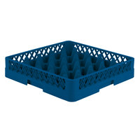 Vollrath TR6 Traex® Full-Size Royal Blue 25-Compartment 3 1/4 inch Glass Rack