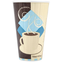 Dart Solo IC16-J7534 Duo Shield 16 oz. Poly Paper Hot Cup - 35/Pack