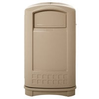 Rubbermaid FG396400BEIG Plaza Beige Container with Side Opening 50 Gallon