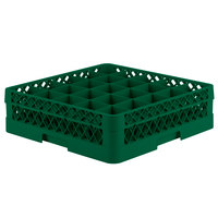 Vollrath TR6B Traex® Full-Size Green 25-Compartment 4 13/16 inch Glass Rack