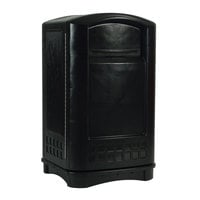 Rubbermaid FG396400 Plaza Black Container with Side Opening  50 Gallon (FG396400BLA)