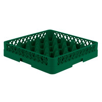 Vollrath TR6 Traex® Full-Size Green 25-Compartment 3 1/4 inch Glass Rack