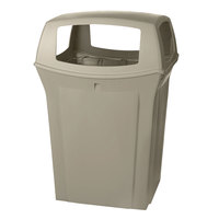 Rubbermaid FG917388BEIG Ranger Beige Container with 4 Openings 45 Gallon