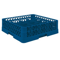 Vollrath TR6A Traex® Full-Size Royal Blue 25-Compartment 4 13/16 inch Glass Rack with Open Rack Extender On Top