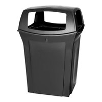 Rubbermaid FG917388BLA Ranger Black Container with 4 Openings 45 Gallon